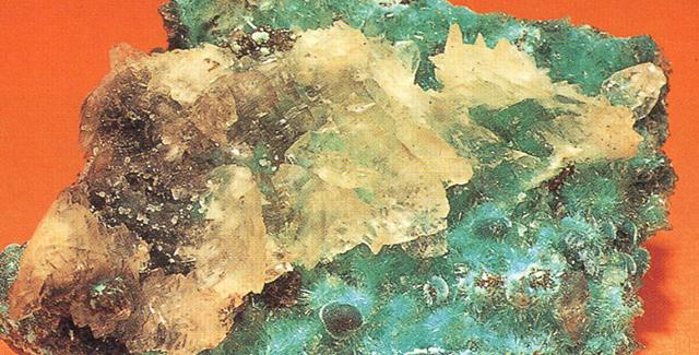 オーリカルサイト(Aurichalcite) 水亜鉛銅鉱 ぼくは15年ほど前この水亜鉛銅鉱を輸入した箱の底に散らばっていた粉をコップ一杯くらいもらったことがあって、試してみたのです。そしてその小さな暖かな水色の粉体にコメット・ブルー(Comet Blue 彗星青)と付けましたが、そのわけはルーペで見るとその小さな粒々が小さな単結晶で、さながら小さな水色の星という感じだったからです。標本産地:Mapimi Durango,Mexico