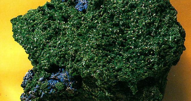 アズロマラカイト(Azurimalachite) マラカイトとアズライトは混合して産出することが多く、それらをアズロマラカイトと呼んでいます。標本産地:Morenci,Arizona,USA