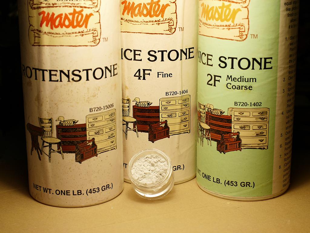 ロッテストーンやパミス(軽石を粉砕した磨き粉の一種)