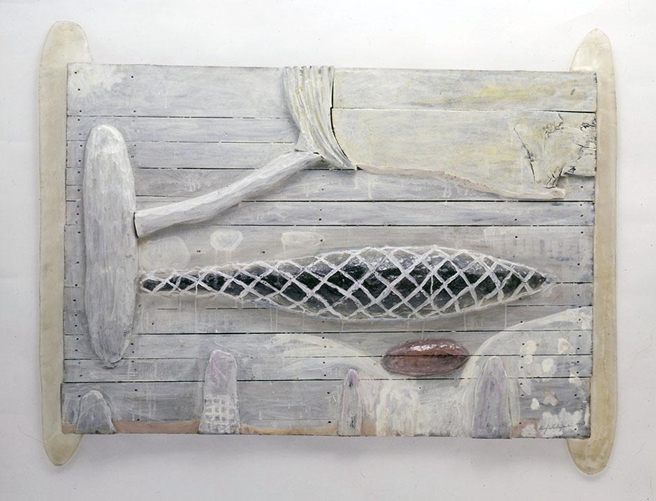 「離宮珀水」1990 木に油彩、樹脂他