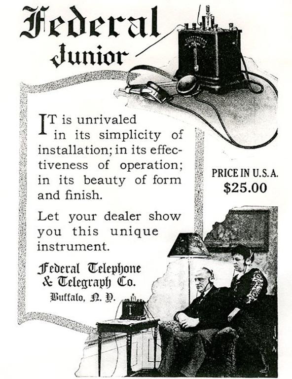 この鉱石ラジオを広告として掲載していた書籍のページ