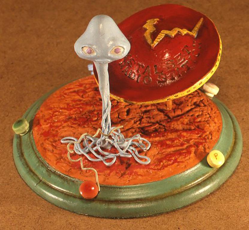 火星人式交信鉱石受信機W150×D150×H120(mm)