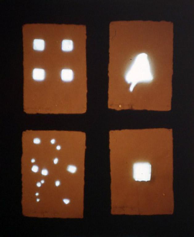 [Untitled]1983 電子部品、自漉紙、合成樹脂