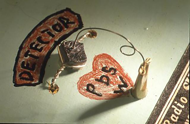 検波器をいかにして簡単に作れないかと工夫した例
