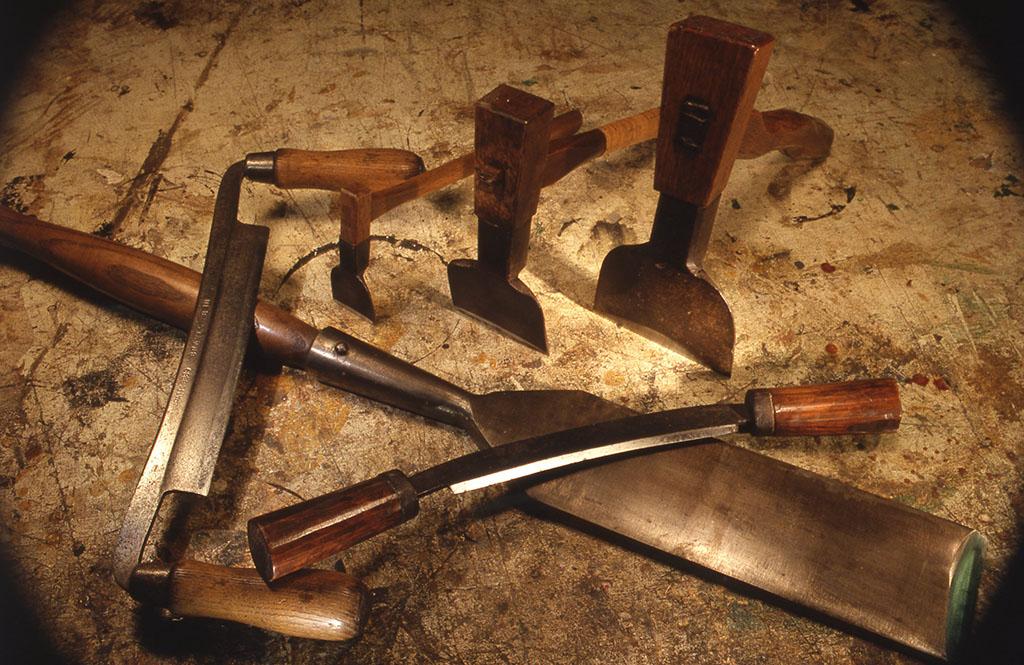 小林健二の手道具の中でも木工用のものは充実している。画像はその一部。